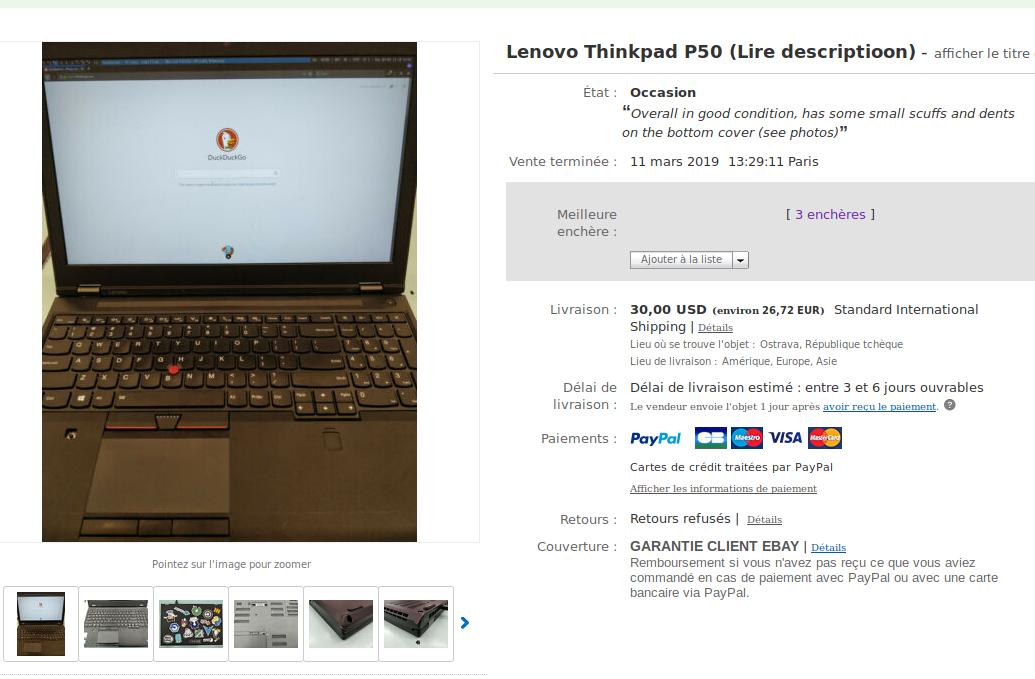 Thinkpad P50: Station de Travail sous MacOS · Mr Tortue