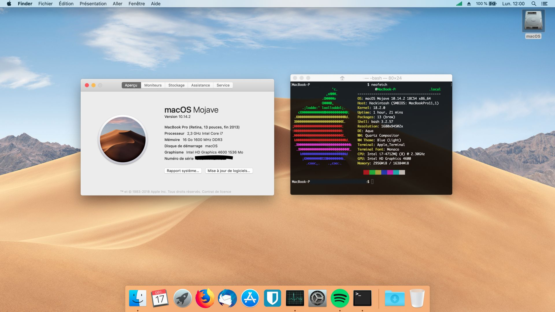 Thinkpad Hackintosh Mojave